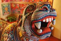 Huichol art - Beaded Jaguar